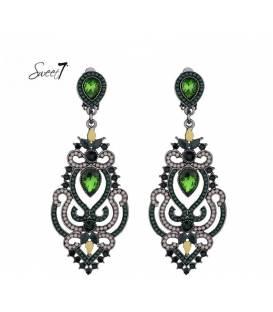Zeer mooie groene lange oorclips van Sweet7