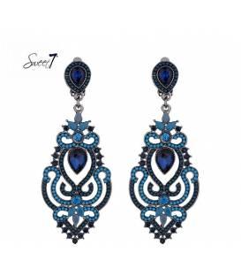 Zeer mooie blauwe lange oorclips van Sweet7
